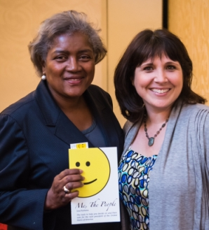 Donna Brazile and Lisa Fontana Author of Me The People